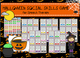 Halloween Social Skills /Pragmatics/Etiquette Activity gam