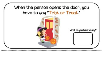 Halloween Social Story Book in Spanish and English