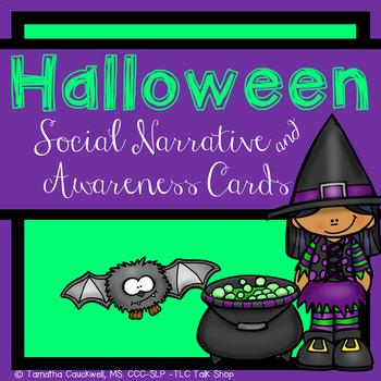 Halloween Social Narrative and Disability Awareness Cards: FREEBIE