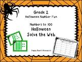 Halloween Solve the Web Number Fun Grade 2