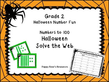 Halloween Solve the Web Number Fun Grade 2
