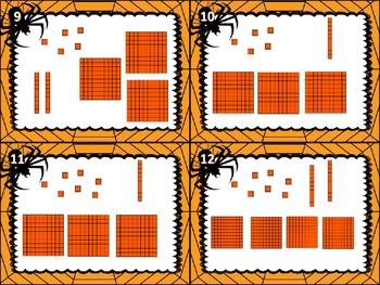 Halloween Solve the Web Number fun Grade 3
