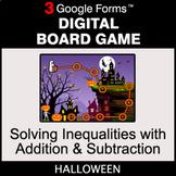Halloween: Solving Inequalities with Addition & Subtractio