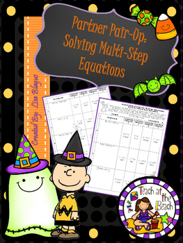 Halloween Solving Multi-Step Equations