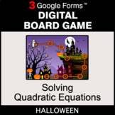 Halloween: Solving Quadratic Equations - Digital Board Gam