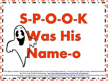 Halloween Song And Posters S-P-O-O-K Was His Name-O