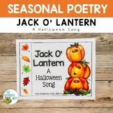 Halloween Song Book Freebie: Jack O' Lantern
