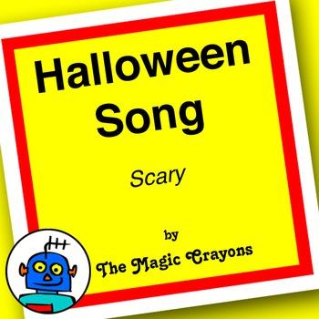 English Halloween Song 1 for ESL, EFL, Kindergarten. Witch, vampire, skeleton