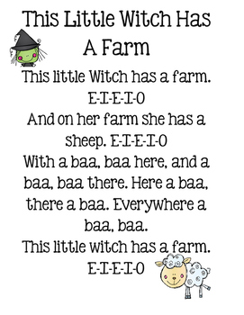 Halloween Song -This Little Witch Has A Farm