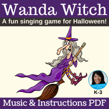 Halloween Song | Witch Singing Game | Lead Sheet & Game Instructions PDF
