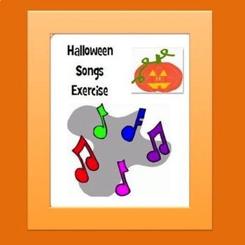 Halloween Songs Exercise Google Drive Digital Resource
