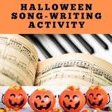 Halloween Song-Writing Activity for Distance Learning in G