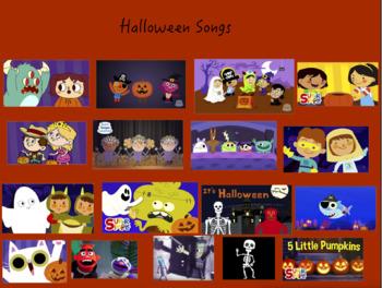 Halloween Songs Interactive Notebook