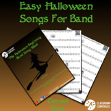 Halloween Songs for Beginning Band - Distance Learning! -