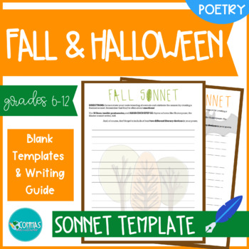 Fall & Halloween-Themed Sonnet-Writing Templates (2-Pack)