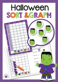 Halloween Sort & Graph - Halloween Math Centers