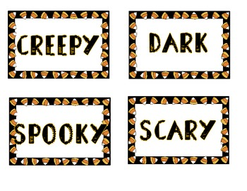 Halloween Sort * Nouns * Verbs * Adjectives