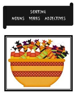 Halloween Sort ~ Nouns ~ Verbs ~ Adjectives