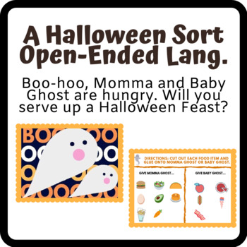 Halloween Sort (Open-ended Speech and Language Activity)