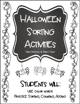 Halloween Sorting Activities