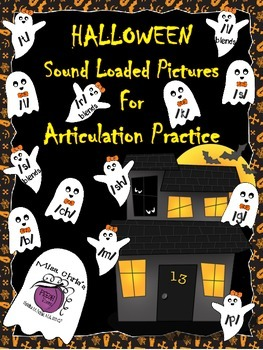Halloween Sound Loaded Pictures for Speech Therapy Many Sounds All Positions
