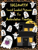 Halloween Sound Loaded Pictures for Speech Therapy Many So