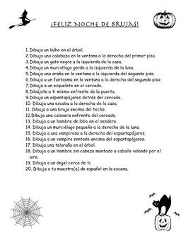 Halloween Spanish Activities/ Noche de Brujas
