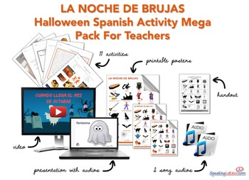 Halloween Spanish Activity Mega Pack