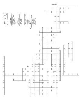Halloween Spanish Crossword Puzzle