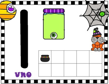 Halloween Spanish Number Mats