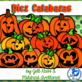 Halloween Spanish Number Words Activity Diez Calabazas Ten Little Pumpkins