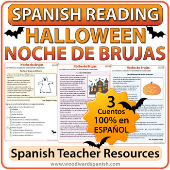Halloween - Spanish Reading Passages and Worksheets