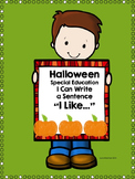 Free Special Education Halloween Writing