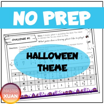 Halloween Special: Haunted House | Math Escape Room 4th Grade End of Year Review