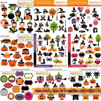 Halloween Special clip art Mega Bundle (9 packs)
