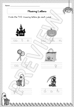 Halloween Special for 1st Grade - Maths, Literacy, Language, Games - Printable