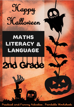 Halloween Special for 2nd Grade - Maths, Literacy, Language, Games - Printable