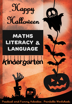 Halloween Special for Kindergarten - Math, Literacy, Language, Games - Printable