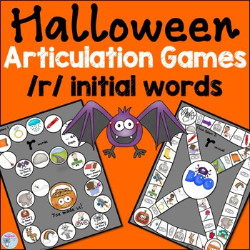 Halloween Speech Activities r words