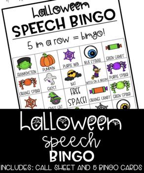 Halloween Speech Bingo