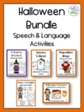 Halloween Speech & Language Activities Bundle