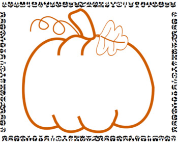 "Speech & Language Seasonal Halloween Activity: Build A.. ""Perfect Pumpkin"""