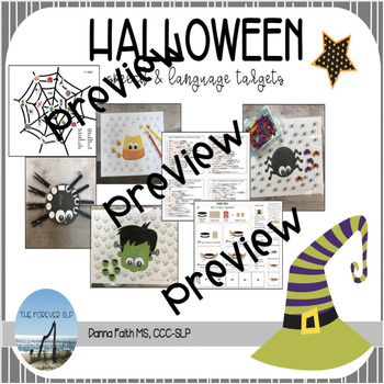 Halloween Speech & Language Targets