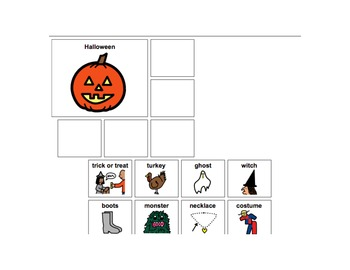 Halloween Speech Language Therapy Materials  (Austism and Language delays)