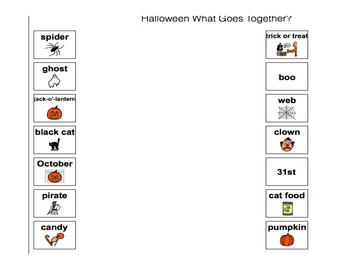 Halloween Speech Language Therapy Materials  (Austism and