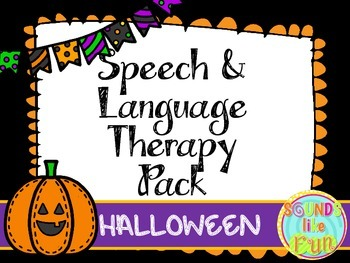 Speech and Language Therapy Pack: Halloween