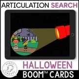 Halloween Speech Search Articulation Activity BOOM CARDS™