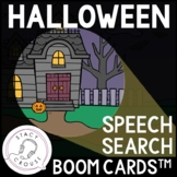 Halloween Speech Search Articulation Activity BOOM CARDS™