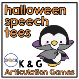 Halloween Speech Tees K and G | Speech and Language Therapy