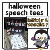 Halloween Speech Tees initial r, vocalic r words | speech and language therapy